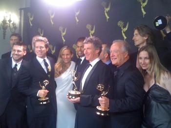"2 Emmys ""Next Frontier"" crew 2011"
