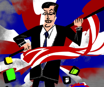 "Various concept art for an animated music video about Stephen Colbert, from the album ""Inu"" by Mikael Eldridge."